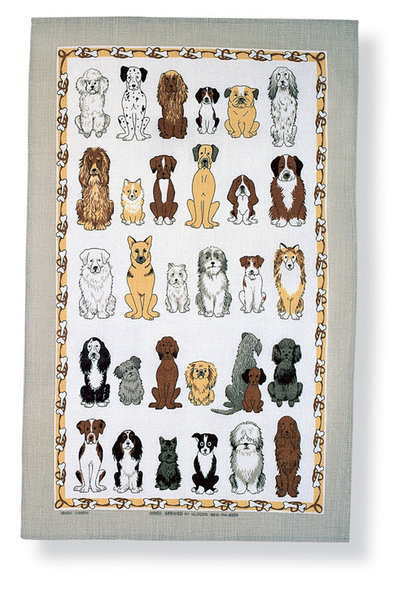 Dogs Arrived Tea Towel Ulster Weavers