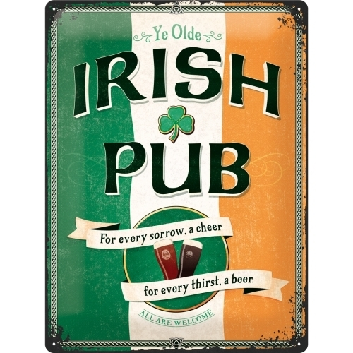 Irish Pub Blechschild Nostalgic Art