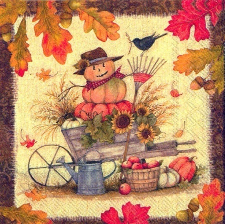 Fall Scenery Herbst Cocktail Serviette IHR