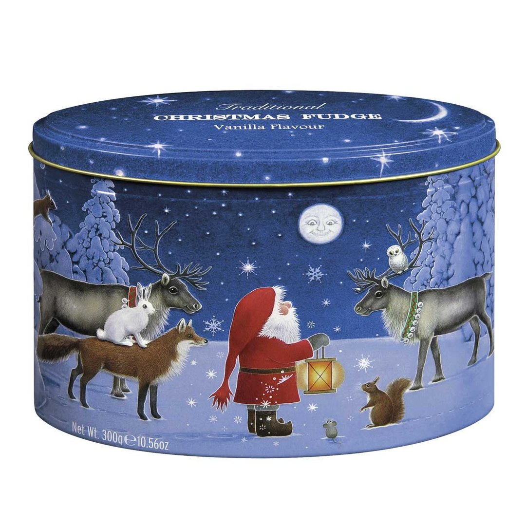 Santa and Moon Tin Fudge Gardiners of Scotland