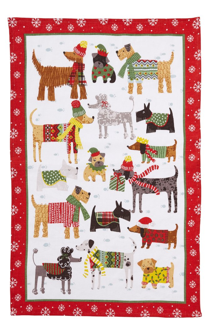 Snow Dogs Tea Towel Ulster Weavers