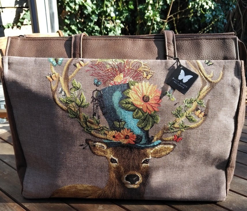 Hirsch Crazy Shopper Reisetasche Belly Moden