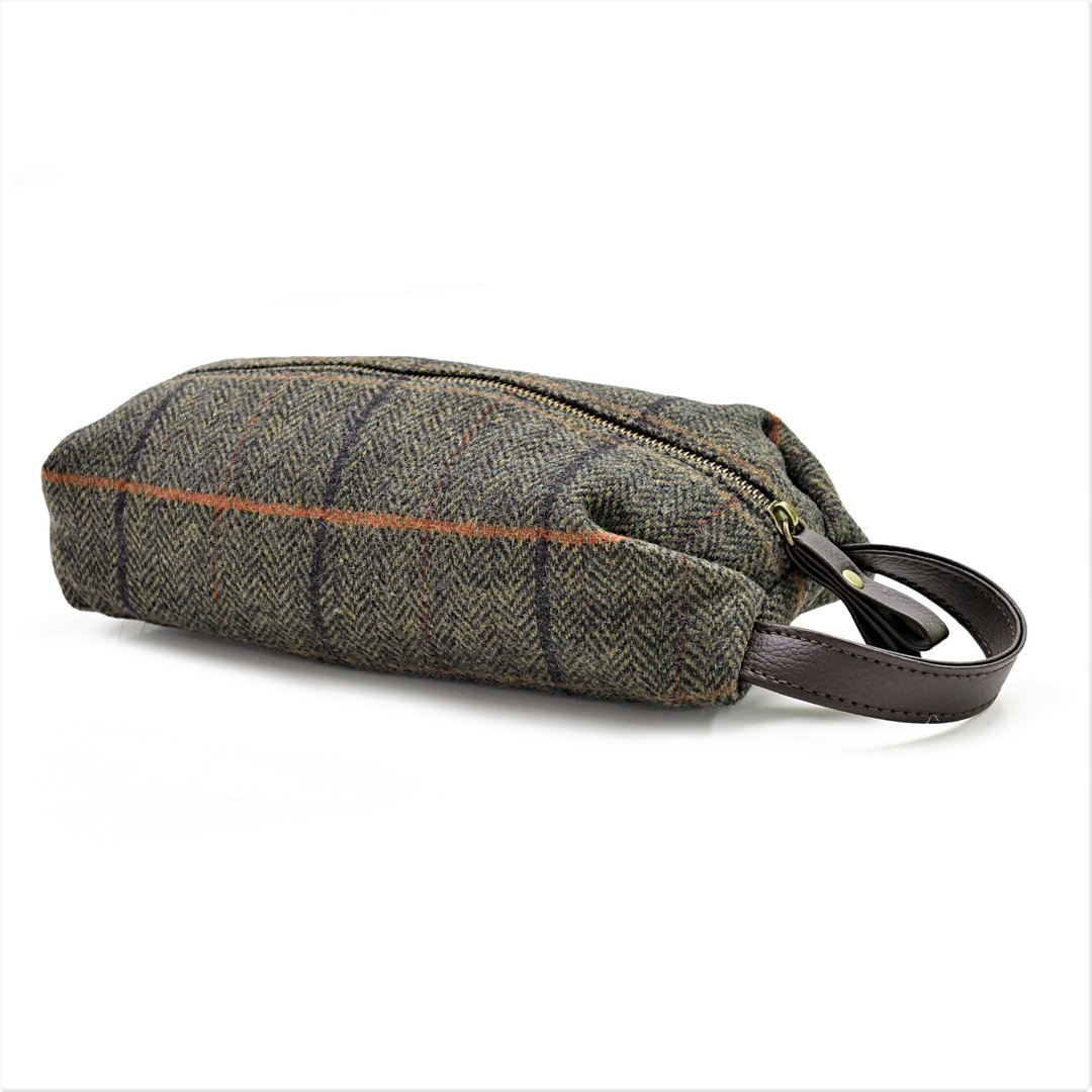 Washbag Tweed grau Kulturbeutel Tweedmill