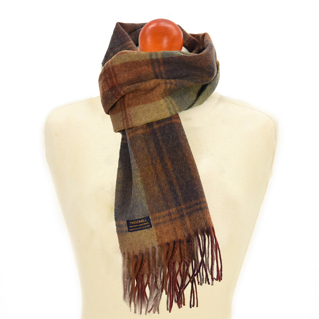Schal Scarf Country Check Lambswool Tweedmill