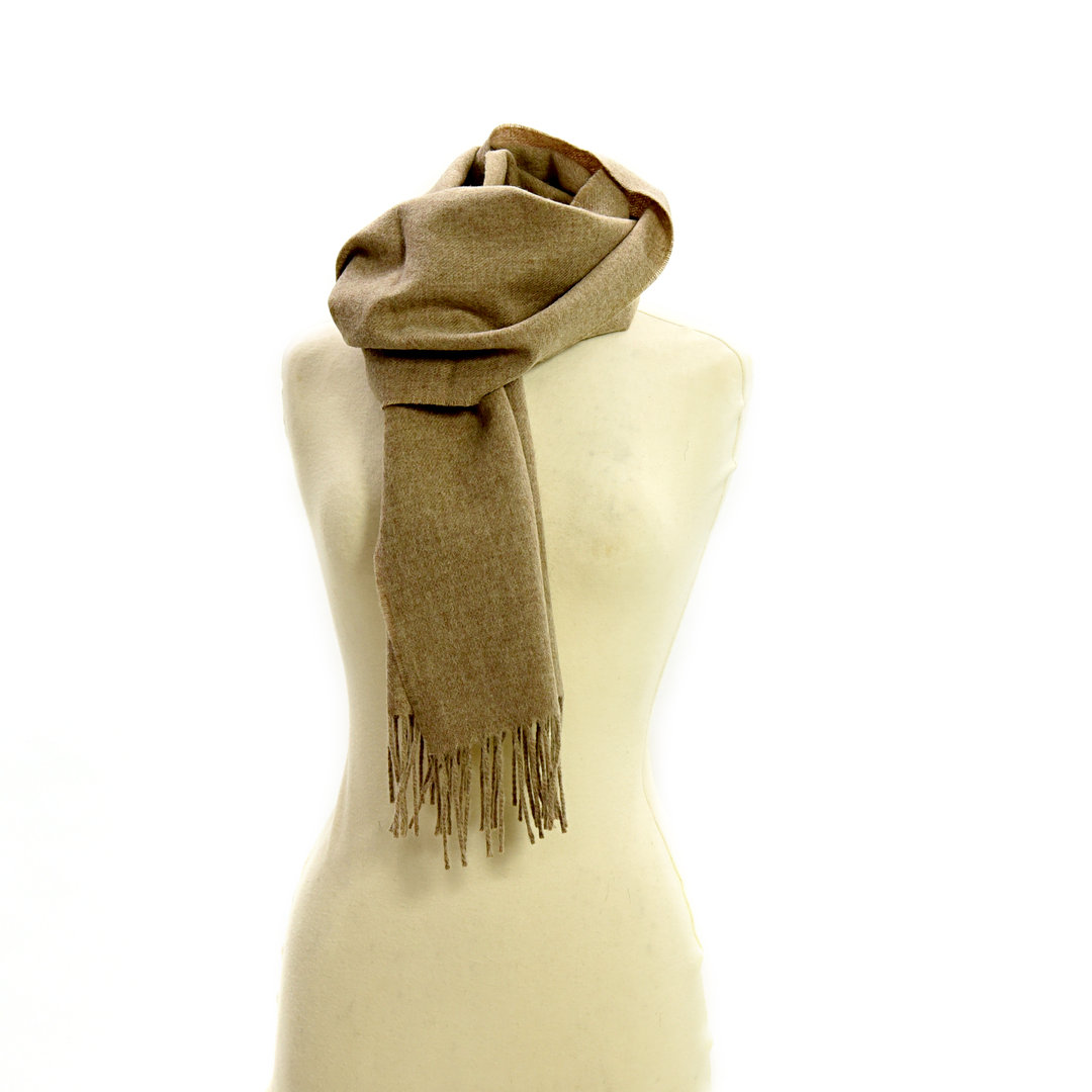 Schal Scarf Lambswool Light Fawn Tweedmill
