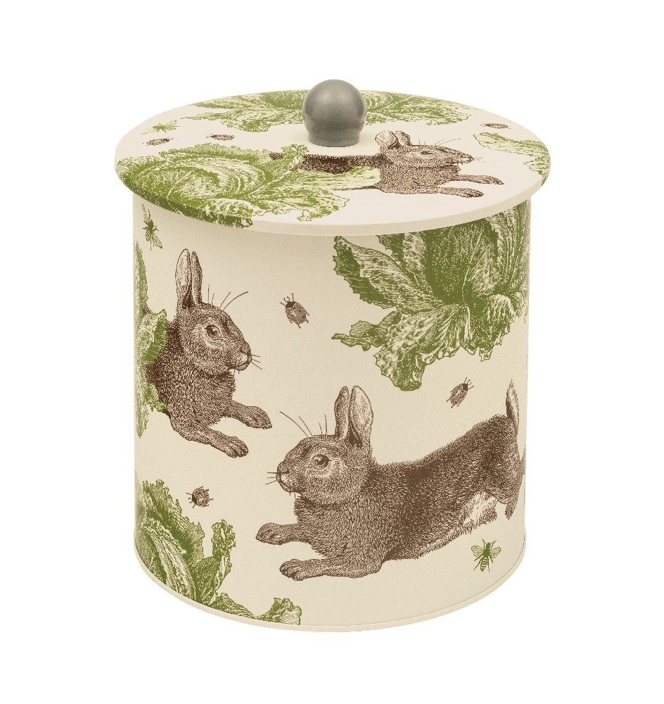 Rabbit Cabbage Hase Kohl Biscuit Dose Caddy